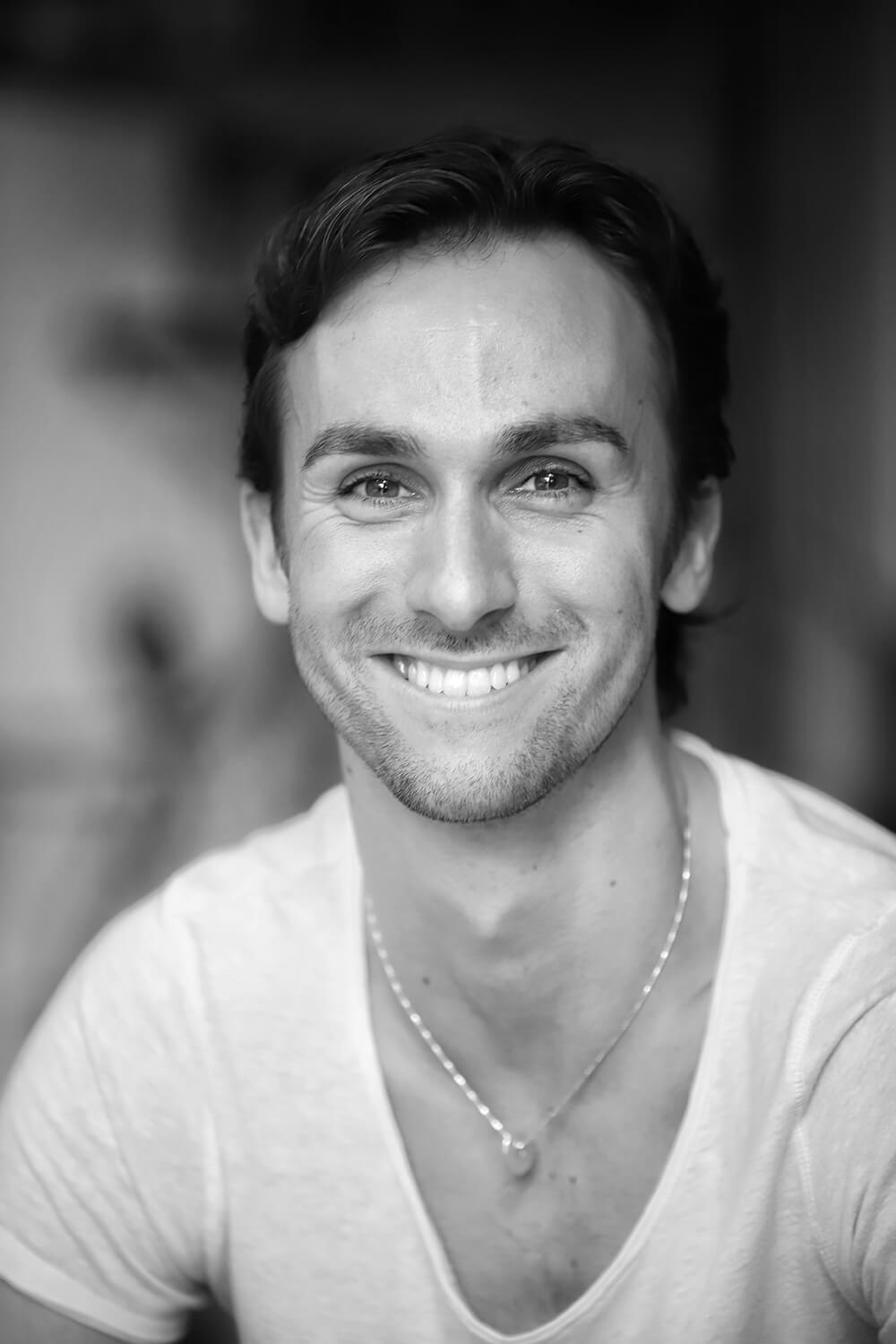 Head and shoulders photo of ballet dancer Medhi Angot